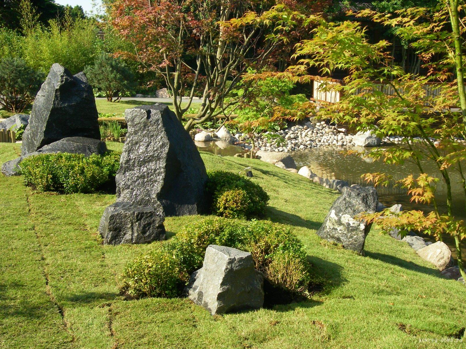 Японский сад уголок отдохновения