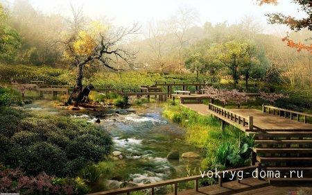 Японский сад - уголок отдохновения