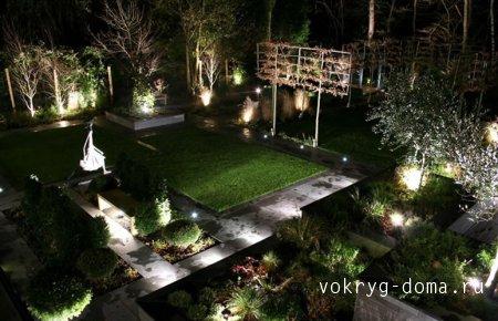 Свет-объемное проявление сада